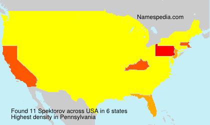 Surname Spektorov in USA