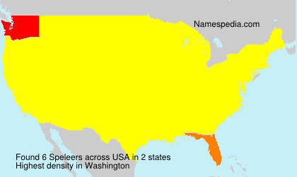Surname Speleers in USA