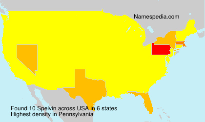 Surname Spelvin in USA