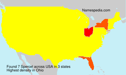 Surname Spercel in USA