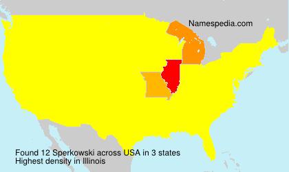 Surname Sperkowski in USA