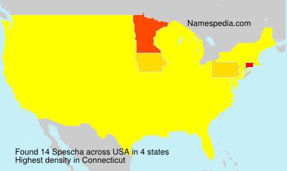 Familiennamen Spescha - USA