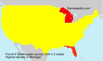 Familiennamen Spielhaupter - USA