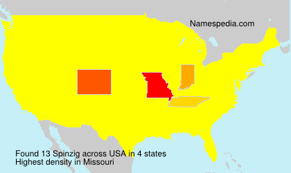 Surname Spinzig in USA