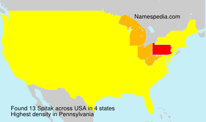 Surname Spitak in USA