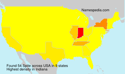 Surname Spite in USA