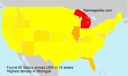 Surname Spitza in USA