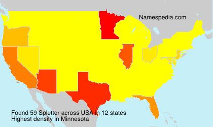 Surname Spletter in USA