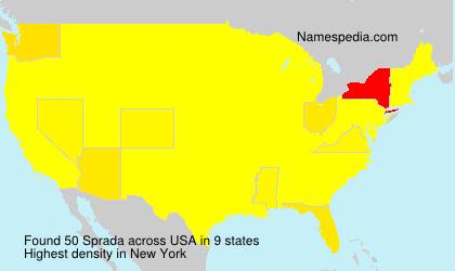 Surname Sprada in USA