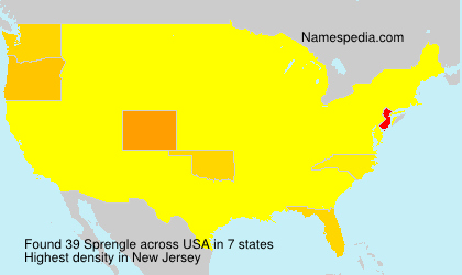 Surname Sprengle in USA