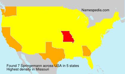 Surname Springemann in USA