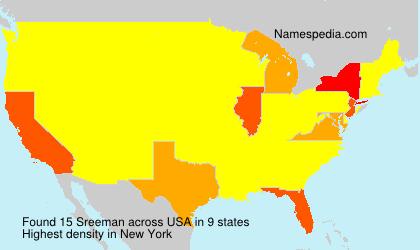Familiennamen Sreeman - USA