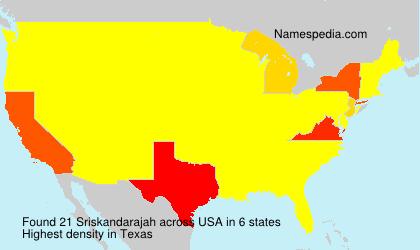 Surname Sriskandarajah in USA