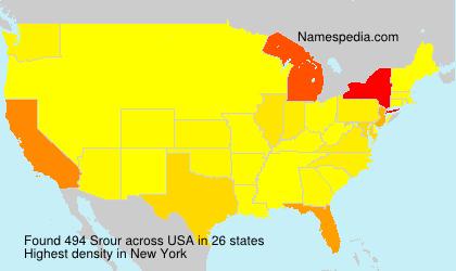 Familiennamen Srour - USA