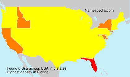 Surname Ssa in USA