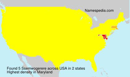Surname Ssemwogerere in USA