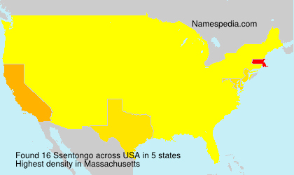 Surname Ssentongo in USA
