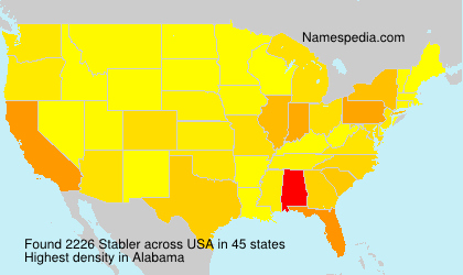 Surname Stabler in USA