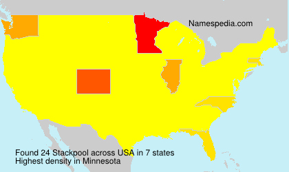 Surname Stackpool in USA