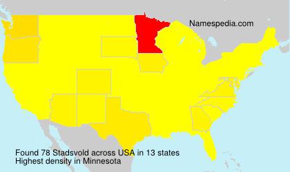Familiennamen Stadsvold - USA