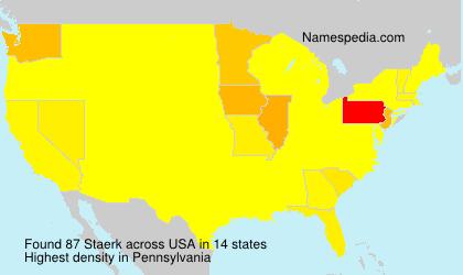 Surname Staerk in USA