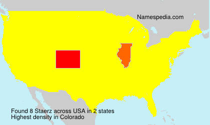 Surname Staerz in USA