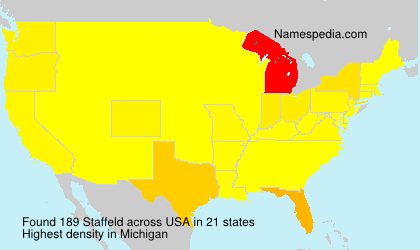 Surname Staffeld in USA