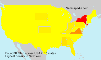 Surname Stah in USA