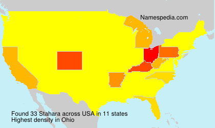 Surname Stahara in USA
