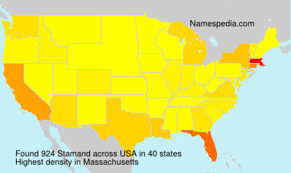 Surname Stamand in USA