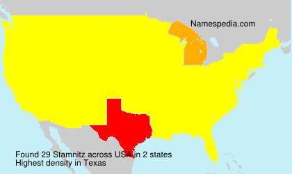 Familiennamen Stamnitz - USA