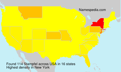 Familiennamen Stampfel - USA