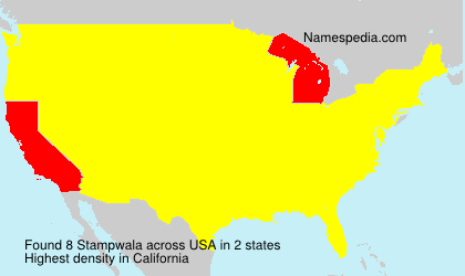 Surname Stampwala in USA