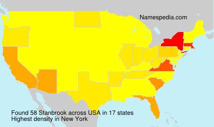 Surname Stanbrook in USA