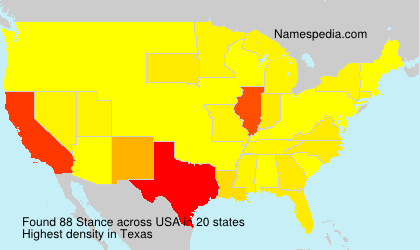 Surname Stance in USA