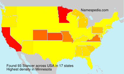 Surname Stancer in USA