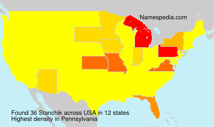 Surname Stanchik in USA