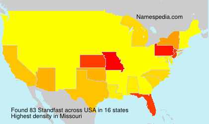 Surname Standfast in USA