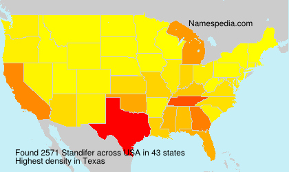 Surname Standifer in USA