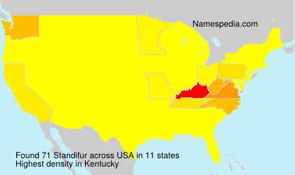 Surname Standifur in USA