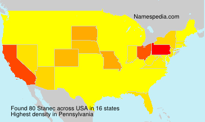 Surname Stanec in USA