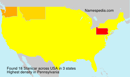 Surname Stanicar in USA