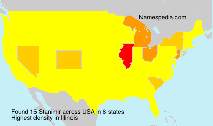 Surname Stanimir in USA