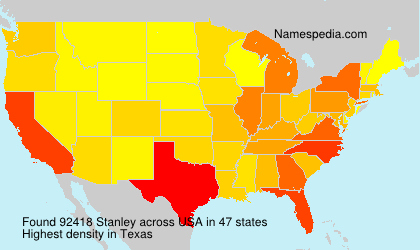 Surname Stanley in USA