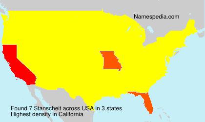 Surname Stanscheit in USA
