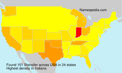 Surname Stansifer in USA