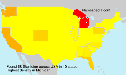 Surname Stantoine in USA