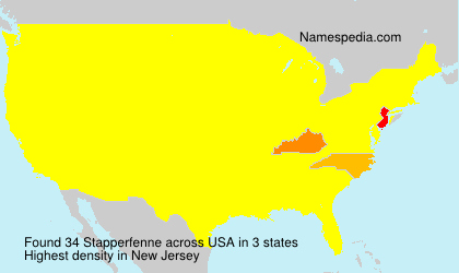 Familiennamen Stapperfenne - USA