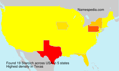 Surname Starcich in USA