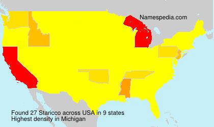 Surname Staricco in USA